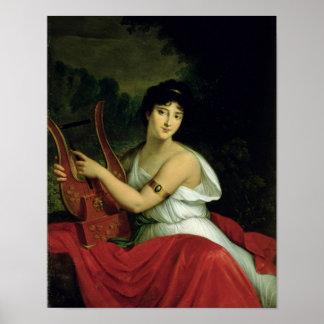 Portrait of Madame de la Pleigne Poster