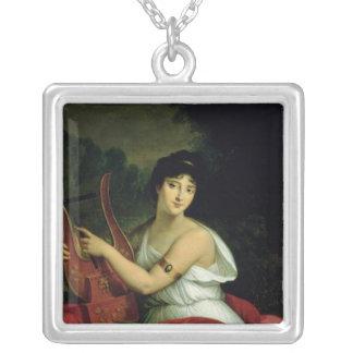Portrait of Madame de la Pleigne Silver Plated Necklace