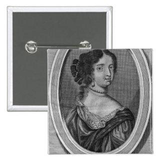 Portrait of Madame de Maintenon 2 Inch Square Button