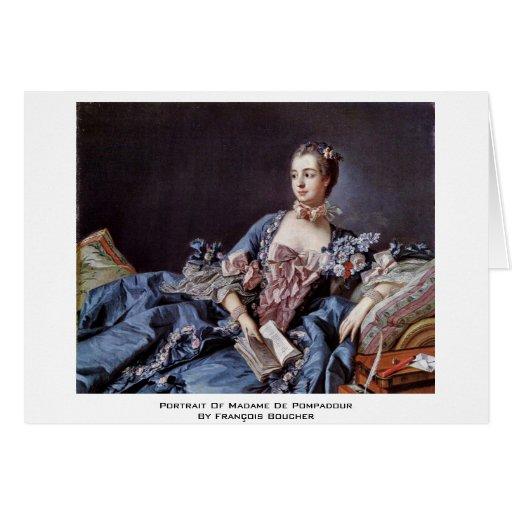 Portrait Of Madame De Pompadour Cards