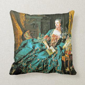 Portrait of Madame de Pompadour Throw Pillow