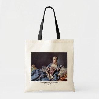 Portrait Of Madame De Pompadour Tote Bag