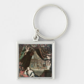 Portrait of Madame de reclining in front Keychains