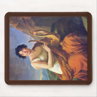 """Portrait Of Madame De Staa """"L As Corinne By Mousepads"""