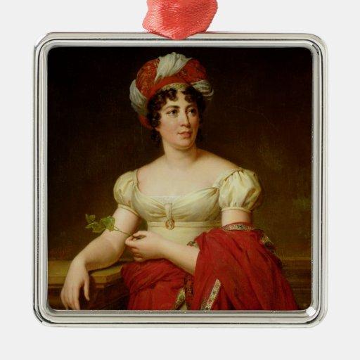 Portrait of Madame de Stael Christmas Tree Ornaments