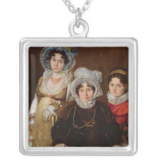 Portrait of Madame de Tangry Silver Plated Necklace