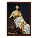 Portrait Of Madame De Verninac By David Jacques-Lo Greeting Card