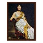 Portrait Of Madame De Verninac By David Jacques-Lo Post Card