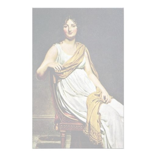 Portrait Of Madame De Verninac By David Jacques-Lo Stationery Design