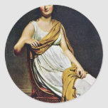 Portrait Of Madame De Verninac By David Jacques-Lo Sticker