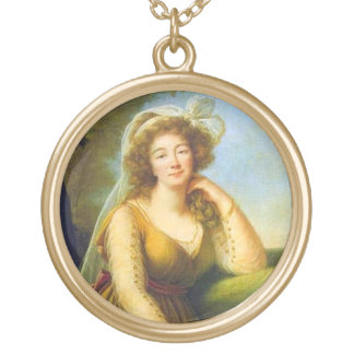 Portrait of Madame Du Barry Gold Plated Necklace