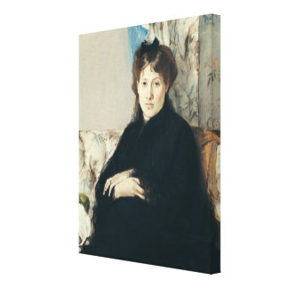 Portrait of Madame Edma Pontillon  1871 Canvas Print
