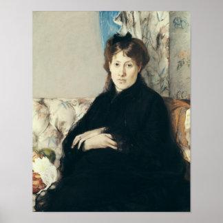Portrait of Madame Edma Pontillon  1871 Poster