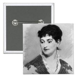Portrait of Madame Emile Zola, 1874 Button