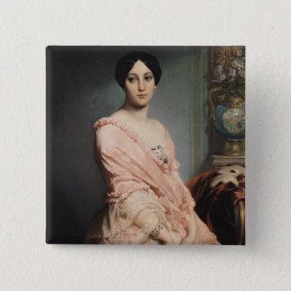 Portrait of Madame F, 1850-51 Pinback Button