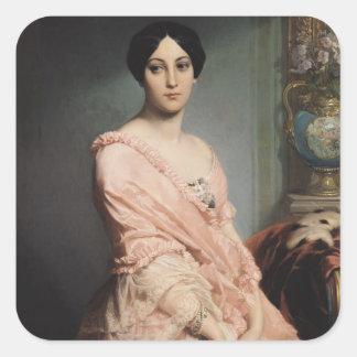 Portrait of Madame F, 1850-51 Square Sticker