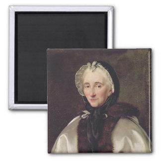 Portrait of Madame Francoise de Graffigny 2 Inch Square Magnet