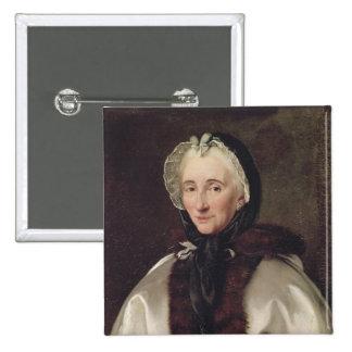 Portrait of Madame Francoise de Graffigny Pinback Button