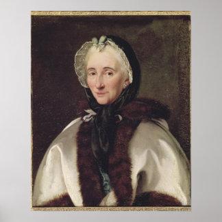 Portrait of Madame Francoise de Graffigny Poster