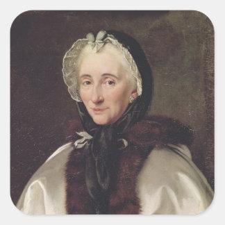 Portrait of Madame Francoise de Graffigny Square Sticker