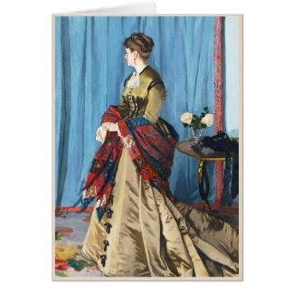 Portrait of Madame Gaudibert Claude Monet Greeting Cards