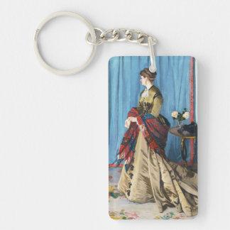 Portrait of Madame Gaudibert Claude Monet Keychain