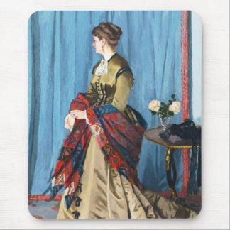 Portrait of Madame Gaudibert Claude Monet Mouse Pad