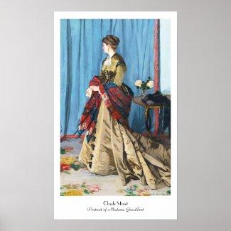 Portrait of Madame Gaudibert Claude Monet Poster