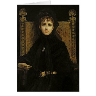 Portrait of Madame Georges Bizet  1878 Card
