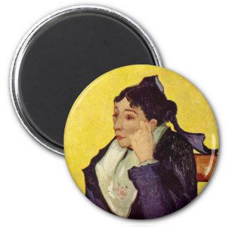 Portrait of Madame Ginoux 2 Inch Round Magnet
