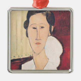 Portrait of Madame Hanka Zborowska, 1917 Metal Ornament
