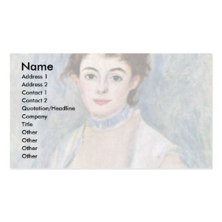 Portrait Of Madame Henriot By Pierre-Auguste Business Card Template