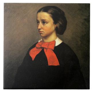 Portrait of Madame Jacquet (oil on canvas) Ceramic Tile