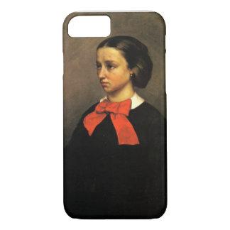Portrait of Madame Jacquet (oil on canvas) iPhone 8/7 Case