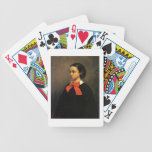 Portrait of Madame Jacquet (oil on canvas) Bicycle Card Deck