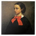 Portrait of Madame Jacquet (oil on canvas) Tiles