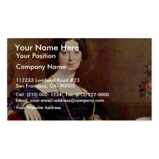Portrait Of Madame Leblanc By Ingres Jean Auguste Business Card