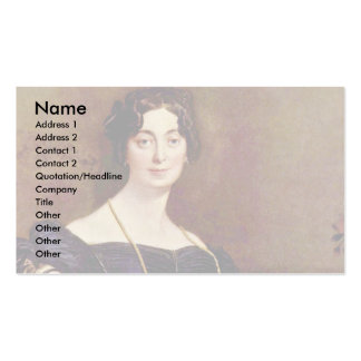 Portrait Of Madame Leblanc By Ingres Jean Auguste Business Card Templates