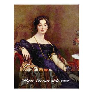"Portrait Of Madame Leblanc By Ingres Jean Auguste 8.5"" X 11"" Flyer"