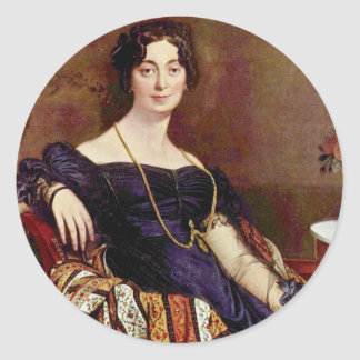 Portrait Of Madame Leblanc By Ingres Jean Auguste Stickers