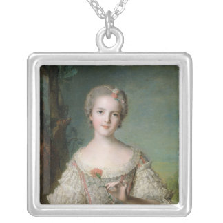 Portrait of Madame Louise de France Silver Plated Necklace