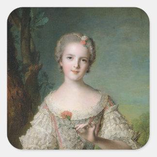 Portrait of Madame Louise de France Square Sticker