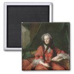 Portrait of Madame Maria Leszczynska  1748 2 Inch Square Magnet