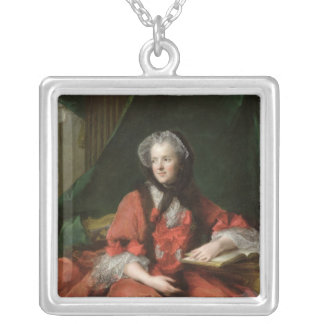 Portrait of Madame Maria Leszczynska  1748 Silver Plated Necklace