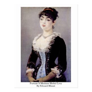 Portrait Of Madame Michel-Levy By Edouard Manet Post Card