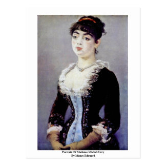 Portrait Of Madame Michel-Levy By Manet Edouard Postcards