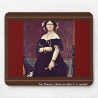 Portrait Of Madame Moitessier By Ingres Jean Augus Mouse Pad