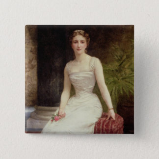 Portrait of Madame Olry-Roederer, 1900 (oil on can Pinback Button
