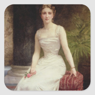 Portrait of Madame Olry-Roederer, 1900 (oil on can Square Sticker