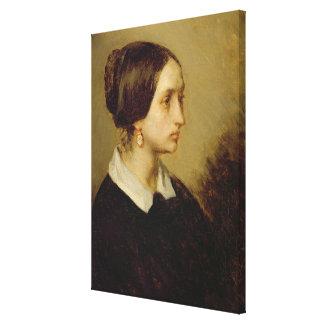 Portrait of Madame Ono, 1844 Canvas Print